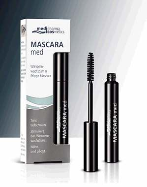 medipharma mascara med f r l ngere und kr ftigere wimpern g nstig bei. Black Bedroom Furniture Sets. Home Design Ideas